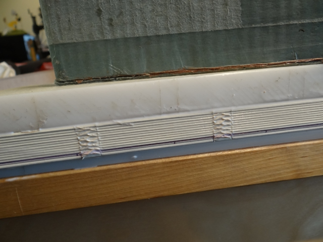 Gluing up the spine of a day planner