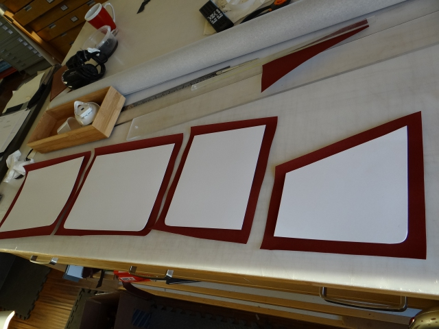 Portfolio liners ready to glue up