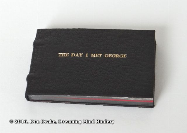 One copy of Don Drake's mini flip book 'The Day I Met George'