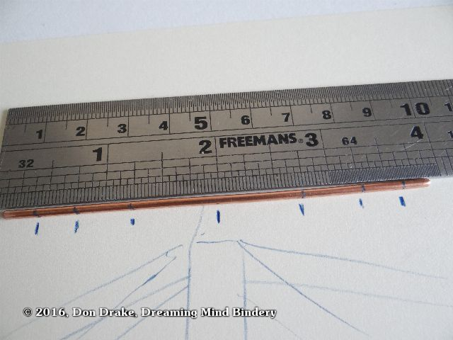 Marking the bend points of a wire bracket