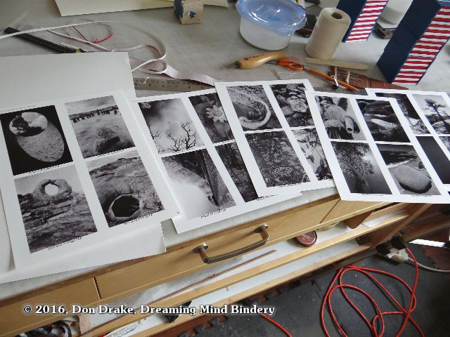 Reference prints of the photos for book 5 & 6 of Kate Jordahl's and Don Drake's One Poem Series
