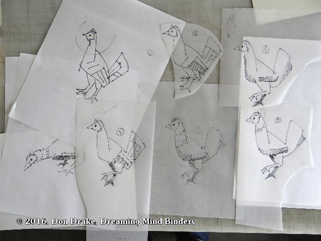 Iterations of a sketch of a chicken