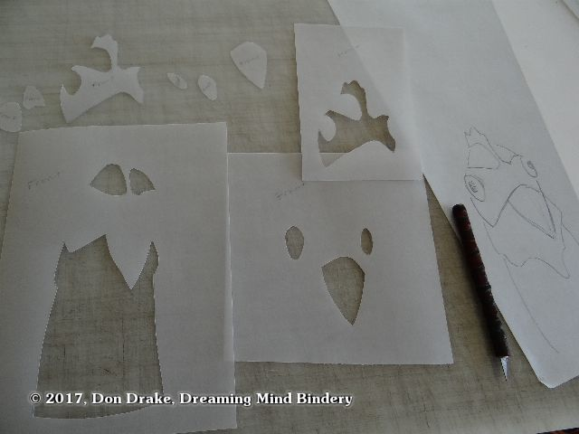 "Stencils being cut to print Don Drake's book ""Why Did The Chicken Cross The Road"""