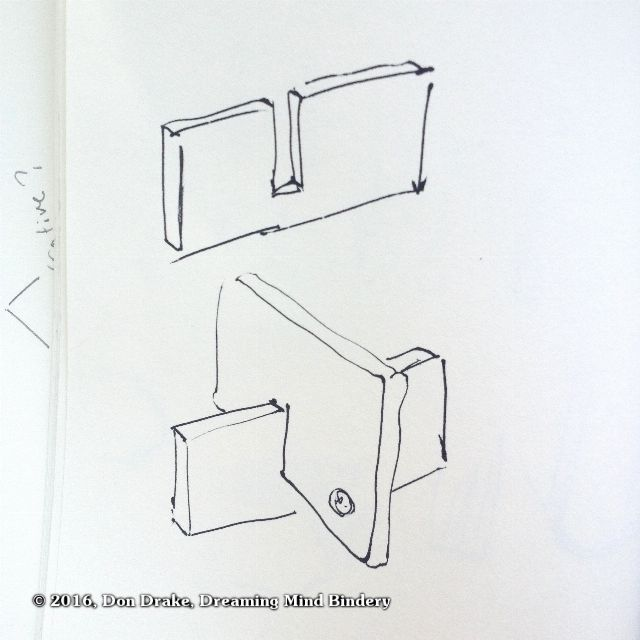 Diagram showing how to make a simple support for a cell phone with a piece of cardboard