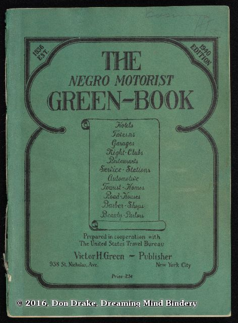Cover of the 1940 edition of The Negro Motorist's Green Book