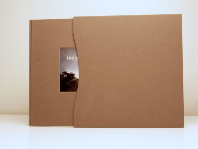 A slipcase with a graceful-curved edge