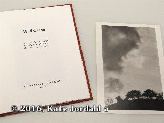 The title page and silver gelatin print included in the hard bound version of Kate Jordahl's and Don Drake's One Poem Book, Wild Geese